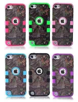 For iPod Touch 4th Gen HARD/&SOFT RUBBER SKIN CASE COVER LIME GREEN BLACK ARMOR