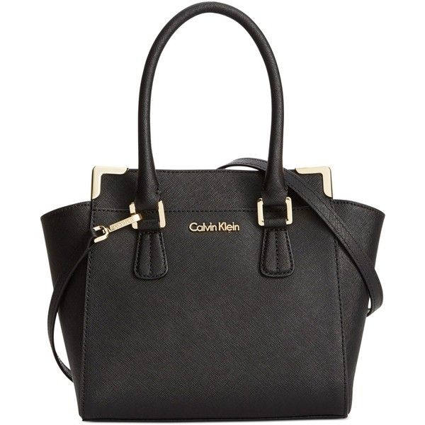 3933416b888e Calvin Klein On My Corner Saffiano Crossbody ( 198) ❤ liked on Polyvore  featuring bags