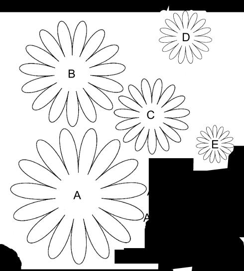 Gerbera Daisy Template