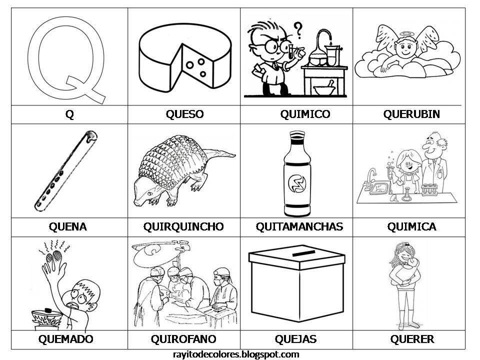Dibujos Para Colorear Que Empiecen Con La Letra A: Objetos Que Empiecen Con La Letra I En Español