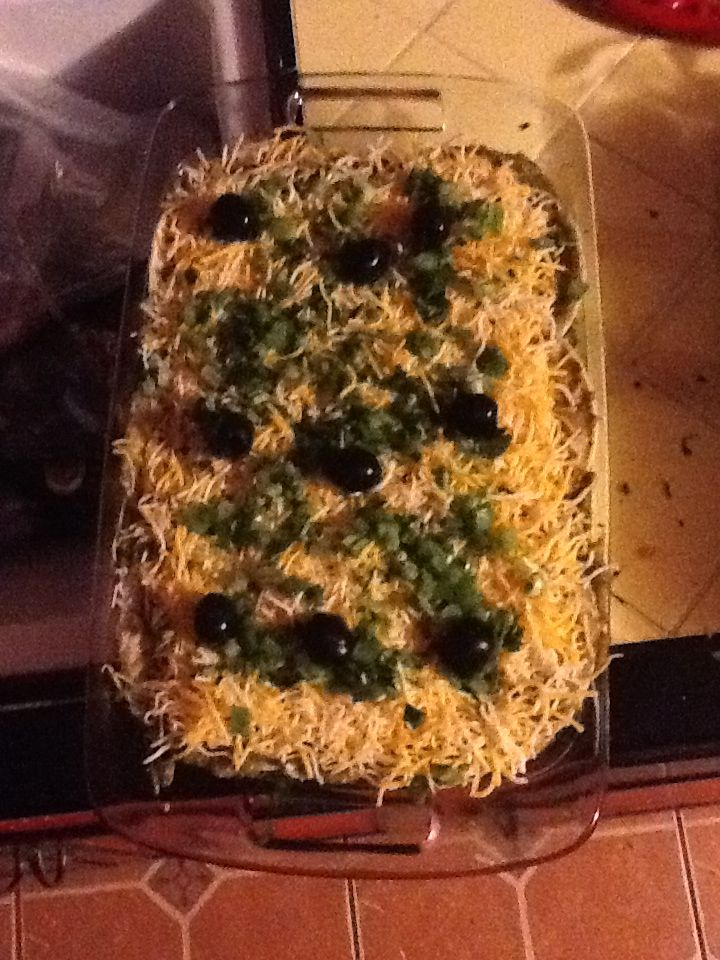 Green Chili Enchilada Caserole.