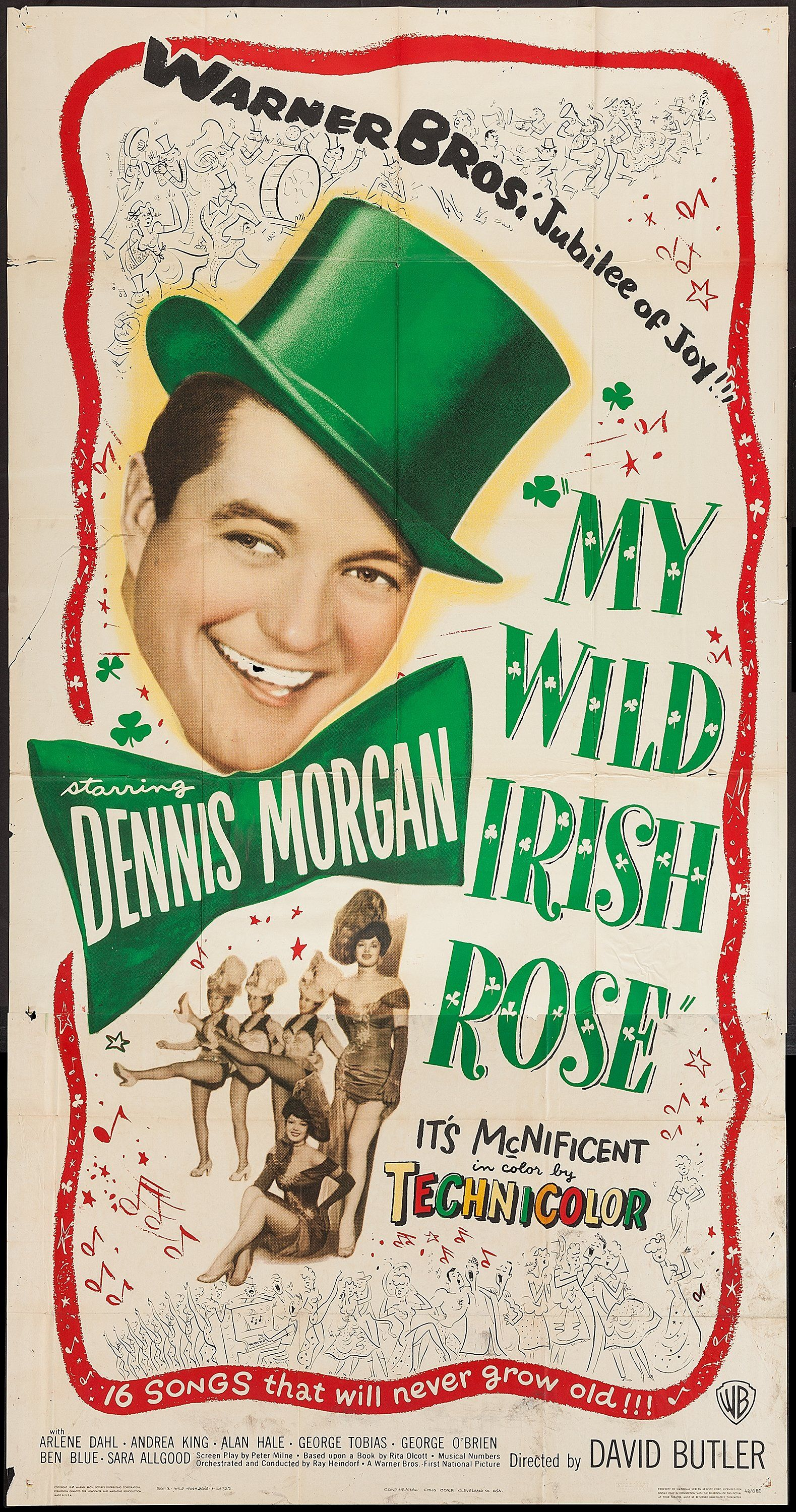 My Wild Irish Rose 1947 Stars Dennis Morgan Andrea King Arlene Dahl Alan Hale Director David Butler Nominated F Wild Irish Rose Irish Warner Brothers