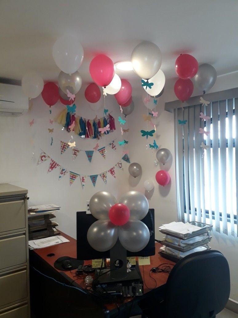 Decoraci n de oficina para cumplea os decoraci n fiesta - Globos fiesta cumpleanos ...