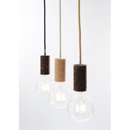 nud lamp cork sand zwart snoer nud collection lampen designlemonade. Black Bedroom Furniture Sets. Home Design Ideas