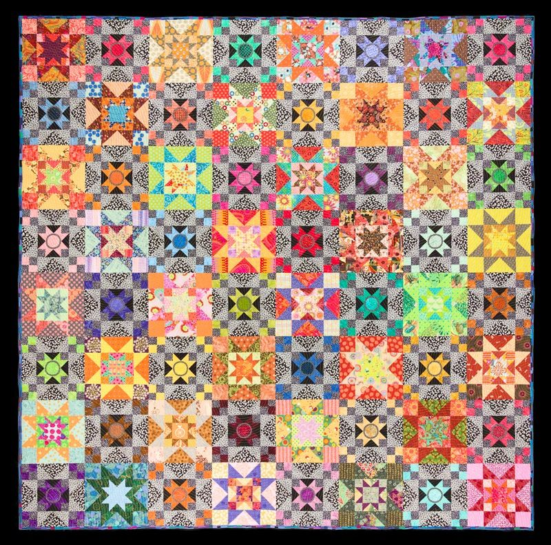 ColorBlind star quilt by Wendy Hill, 92″ by 92″. Creative Quilt ...