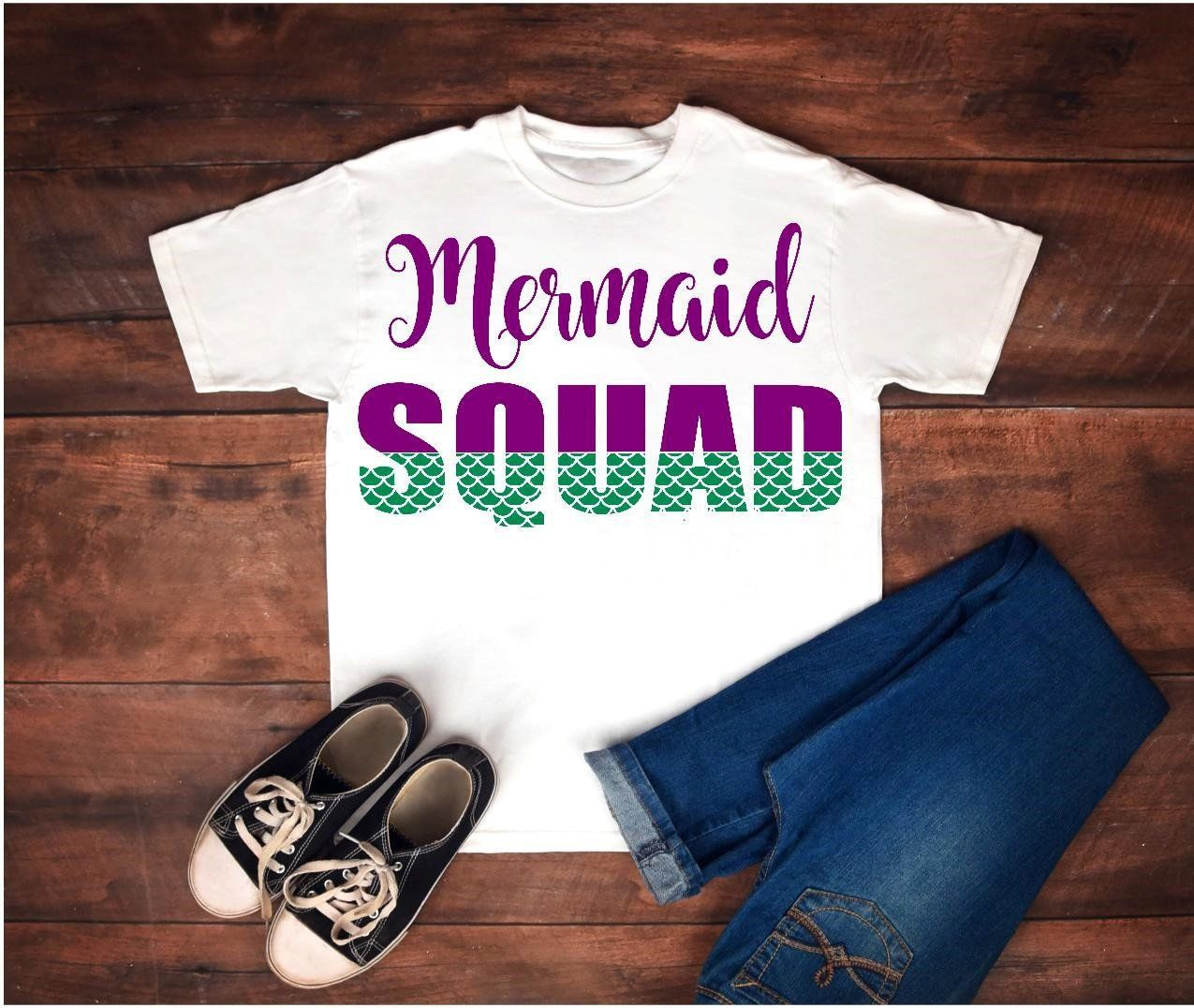 Mermaid Squad Shirt, Mermaid Squad, Mermaid Shirt, Family