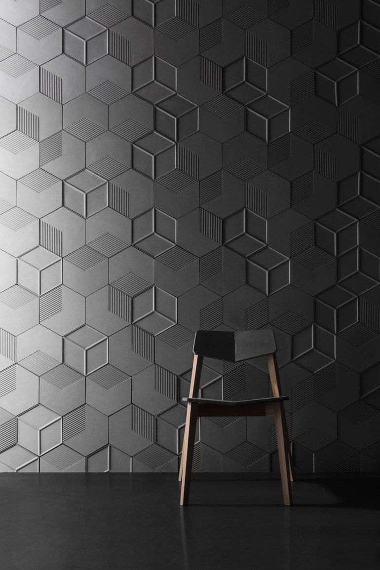 Concrete Wall Tiles Six By Bentu Design Decorative Wall Tiles Wall Tiles Design Hexagon Wall Tiles