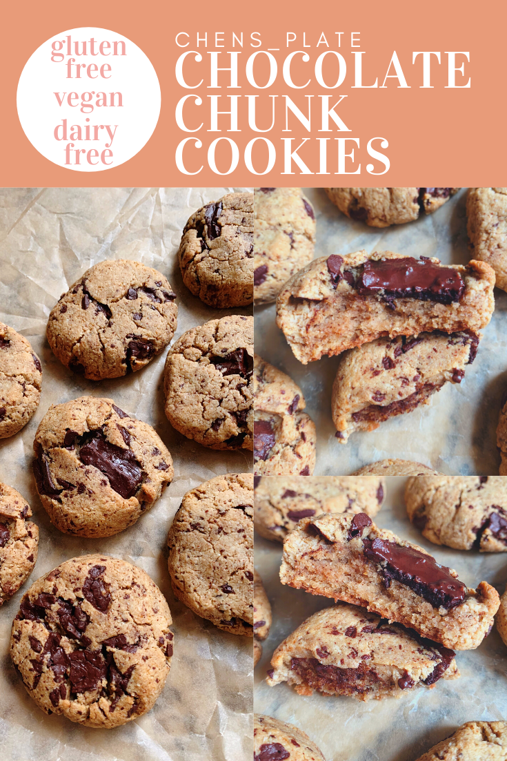 6 Ingredient Chocolate Chunk Cookies Chen S Plate Recipe In 2020 Dairy Free Cookies Chocolate Chunk Cookies Dessert For Dinner