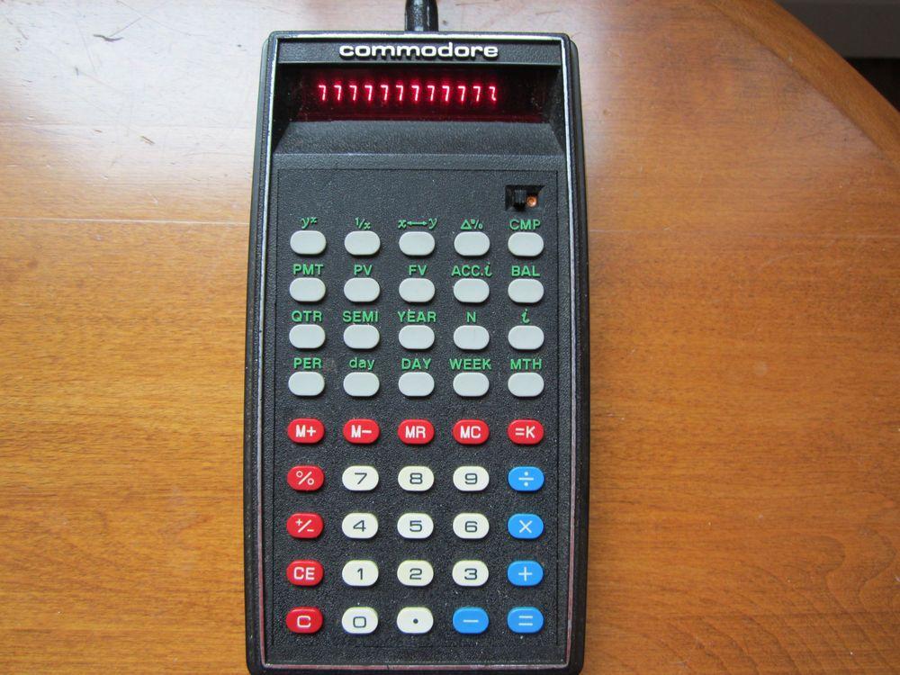 Commodore Vintage Calculator Model FD Rare Works Great
