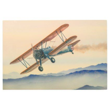 Posters Metal Art Double Decker Oldtimer Propeller Plane