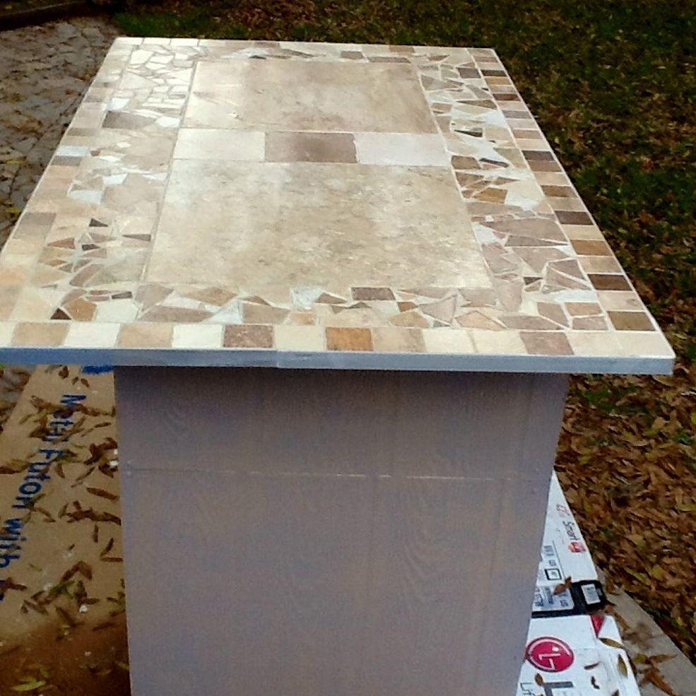 Mosaic Tile Countertop Has Sharp Edges Tile Countertops Mosaic