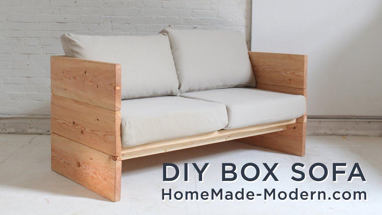 Diy Sofa Made Out Of 2x10s Youtube Diy Sofa Homemade Sofa Diy Couch