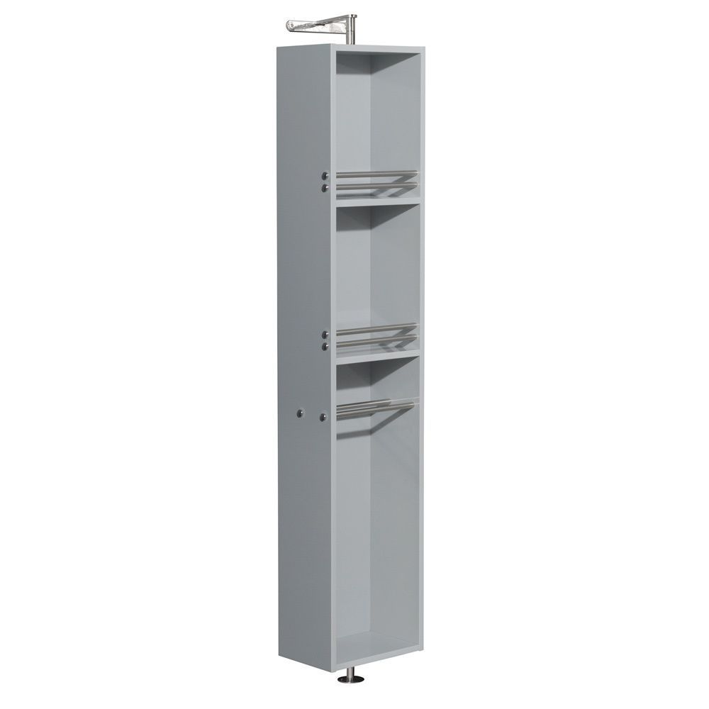 Wyndham Collection Amare Dove 73-inch Linen Tower and 360-degree Rotating Floor Cabinet with Full-length Mirror