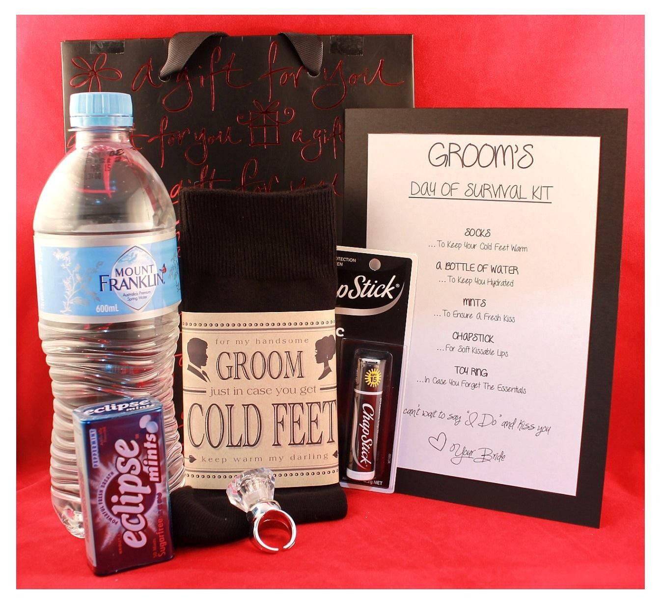 Groom S Survival Kit From Bride I So Have To Get This