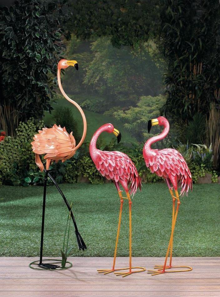 Standing Flamingo Garden Decor Flamingo Garden Flamingo 400 x 300