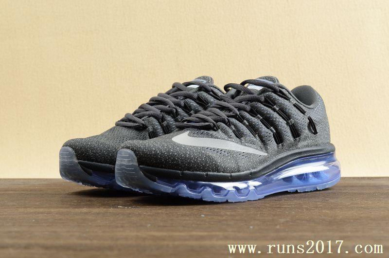separation shoes ffdb5 5f08e Nike Air Max 2016 Women Men Mesh Blue Black