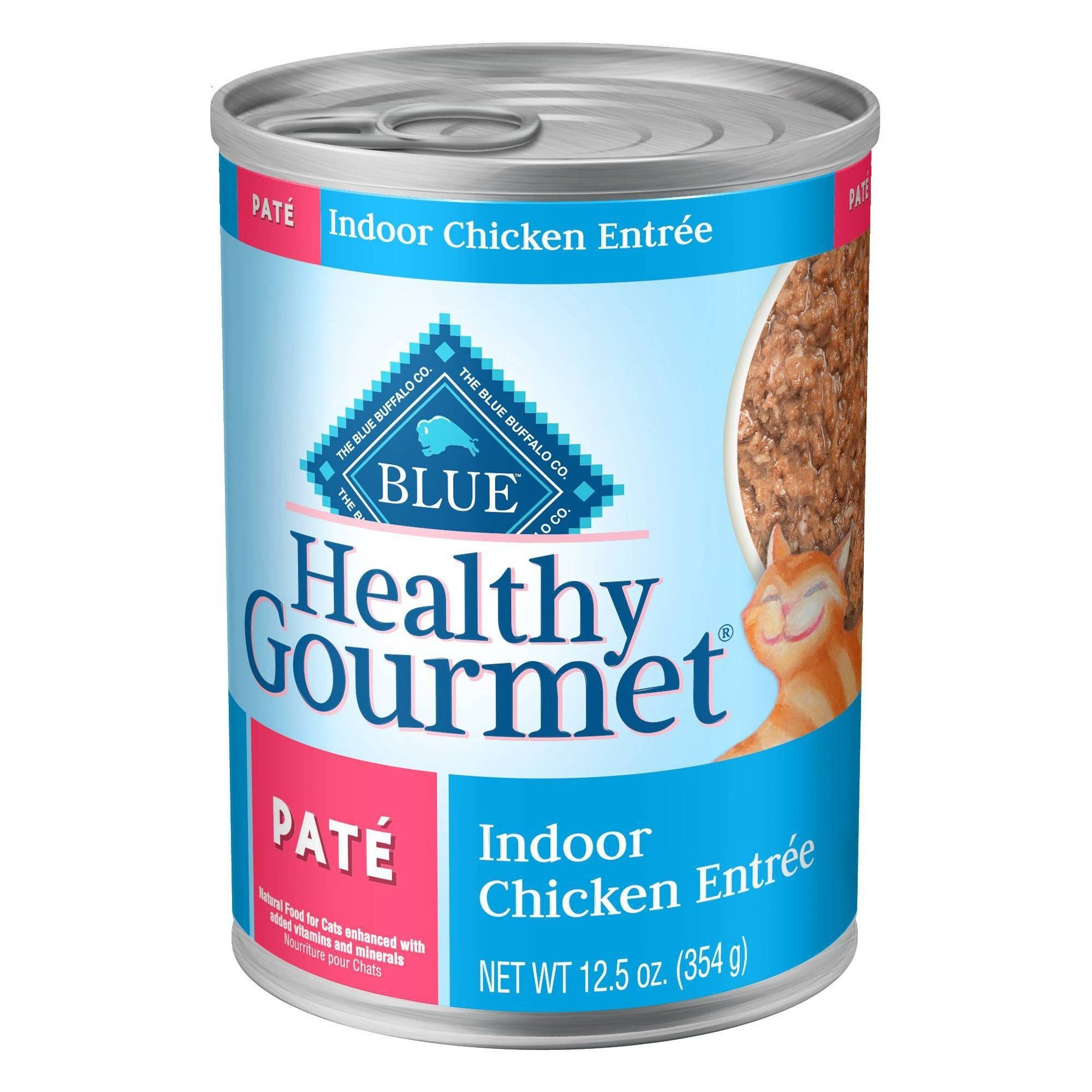 Blue Buffalo Healthy Gourment Pate Indoor Chicken Wet Cat Food 12pk 12 5oz Healthy Gourmet Canned Cat Food Gourmet Chicken