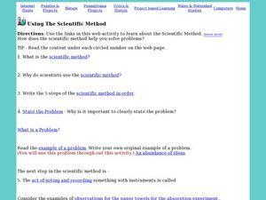 Using The Scientific Method Worksheet  Scientific Method