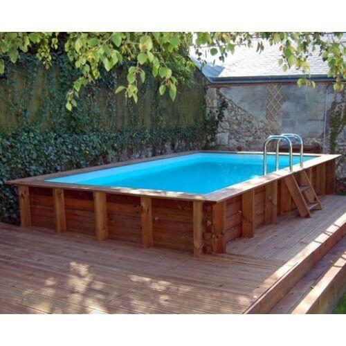 Piscine bois Marbella 427 x 277 x H 119 cm