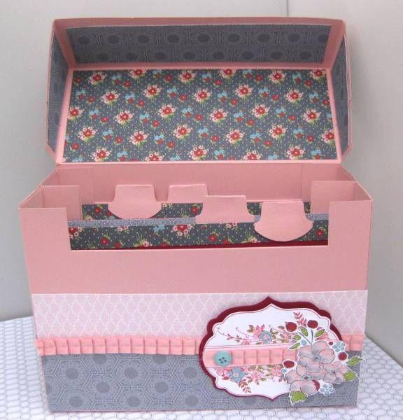 Recipe Index Card Box Paper Crafts Card Box Craft Organization
