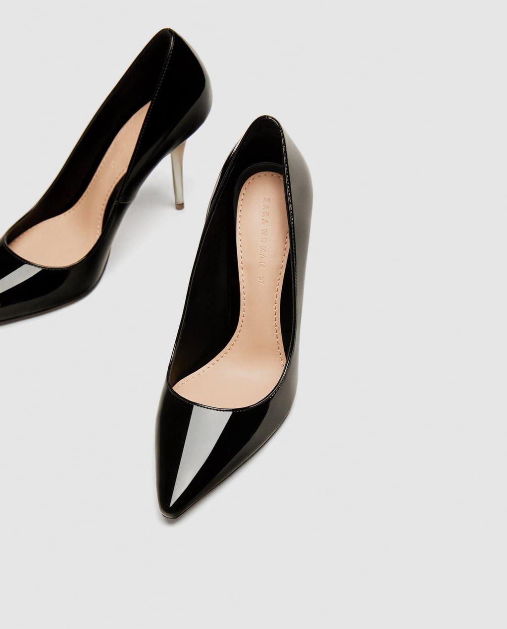 539610011 ZARA - WOMAN - HIGH HEEL COURT SHOES WITH METHACRYLATE HEELS Sapatos,  Pumps, Saltos