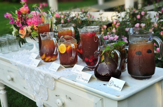Sweet tea bar @Cedarwood Weddings ACE Photography
