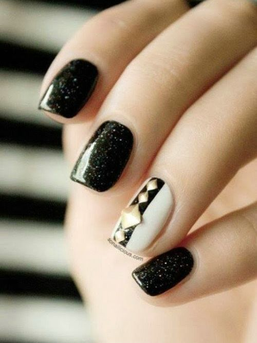 Cute Black And White Nails - Cute Black And White Nails BEST NAIL ART IDEAS Pinterest White