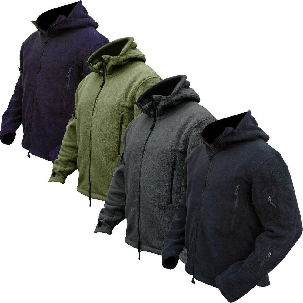 Tactical Military Combat Recon Zip Fleece Hoodie Jacket Army Outdoor Security