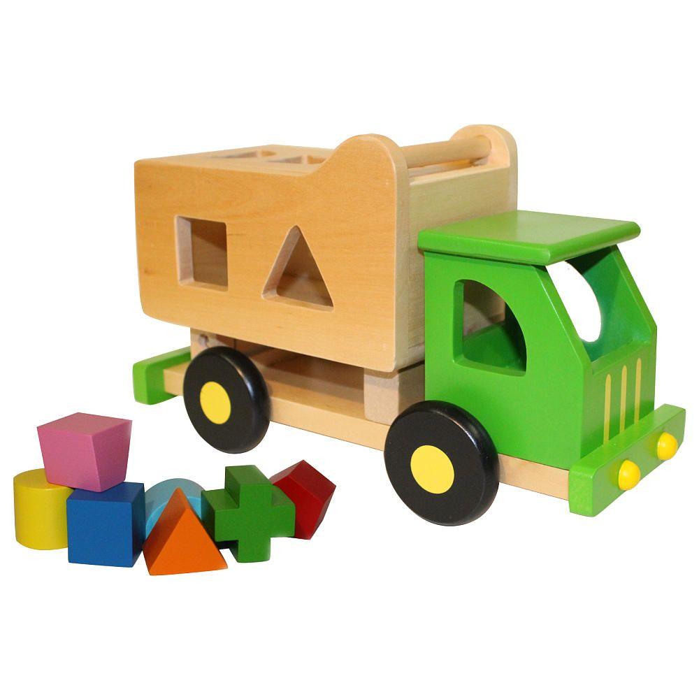 Wooden Sort n Tip Garbage Truck - Flat River Group LLC - Toys R Us