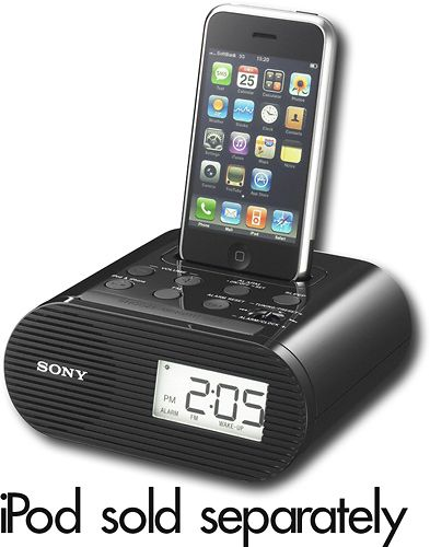 Best Buy Sony Clock Radio With Apple Iphone And Ipod Dock Icfc05ipblk Iphone Docking Station Iphone Clock Ipod