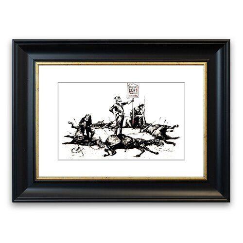 East Urban Home Gerahmter Grafikdruck Custer's letztes Aufbäumen | Wayfair.de