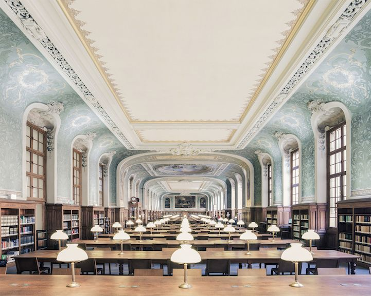 Bibliothèque interuniversitaire de la Sorbonne (Paris, France)  Photographer Franck Bohbot  New Magnificent Photos of Beautiful Libraries around the World - My Modern Met