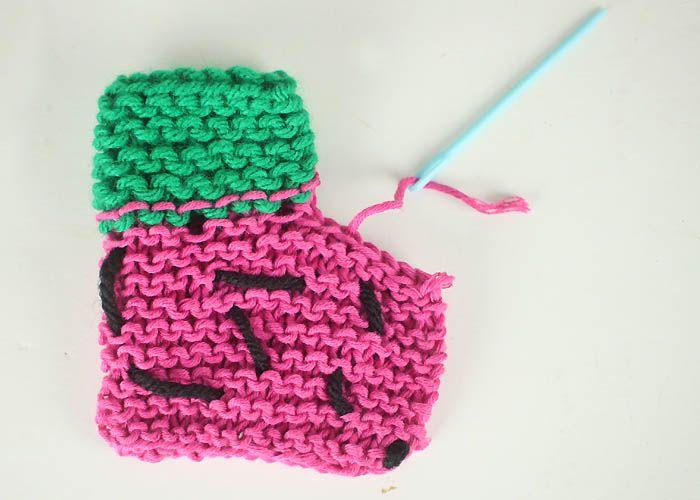 Easy Watermelon Baby Booties Knitting Pattern Pinterest