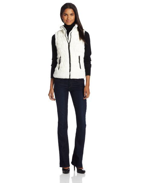 Amazon.com: Calvin Klein Performance Women's Puff Vest with Sherpa Trim: Clothing S