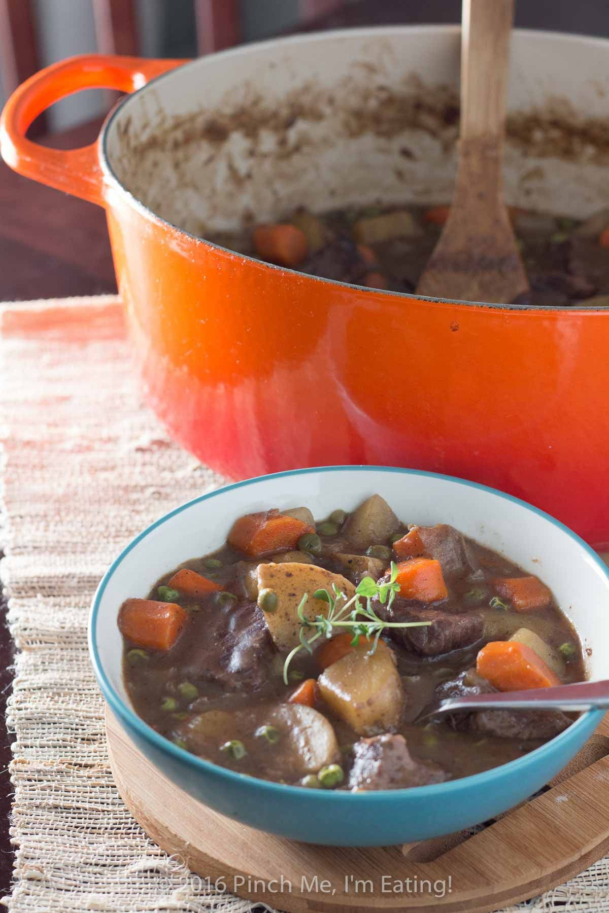 Easy Stove Top Beef Stew With Red Wine Pinch Me I M Eating Recipe Beef Stew Stove Top Stew Red Wine Beef Stew