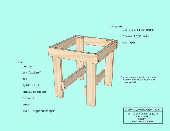 Lp Record Crate Plans Etsy Record Crate Lp Record Crate Crates