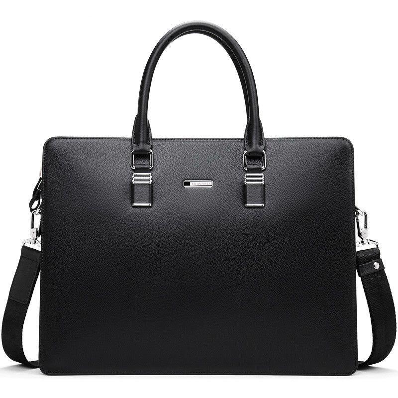 FALAN MULE Fashion Genuine Leather Men Bag Famous Brand Men Shoulder Bag Messenger Bags Causal Handbag Laptop Briefcase Male