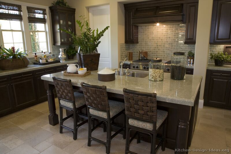 Kitchen Bar Stools Sitting In Style Traditional Kitchen Cabinets Dark Wood Kitchens Dark Wood Kitchen Cabinets