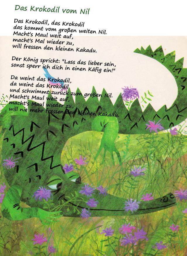 Das Krokodil Vom Nil Kindergarten Erzieher Erzieherin Gedicht