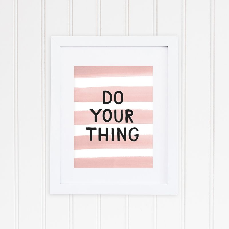 Do Your Thing Hand Lettering Print by Kern + Flourish | $28 #loveonyourwalls