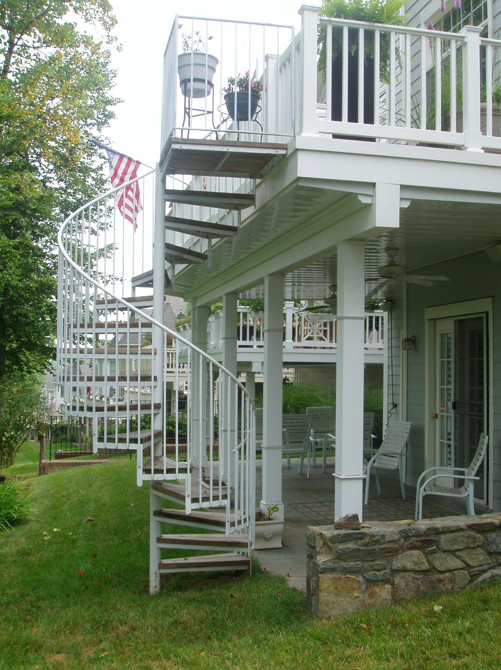 Best Outdoor Spiral Deck Stairs Steel Spiral Staircase Virginia Iron Spiral Stair Va 400 x 300