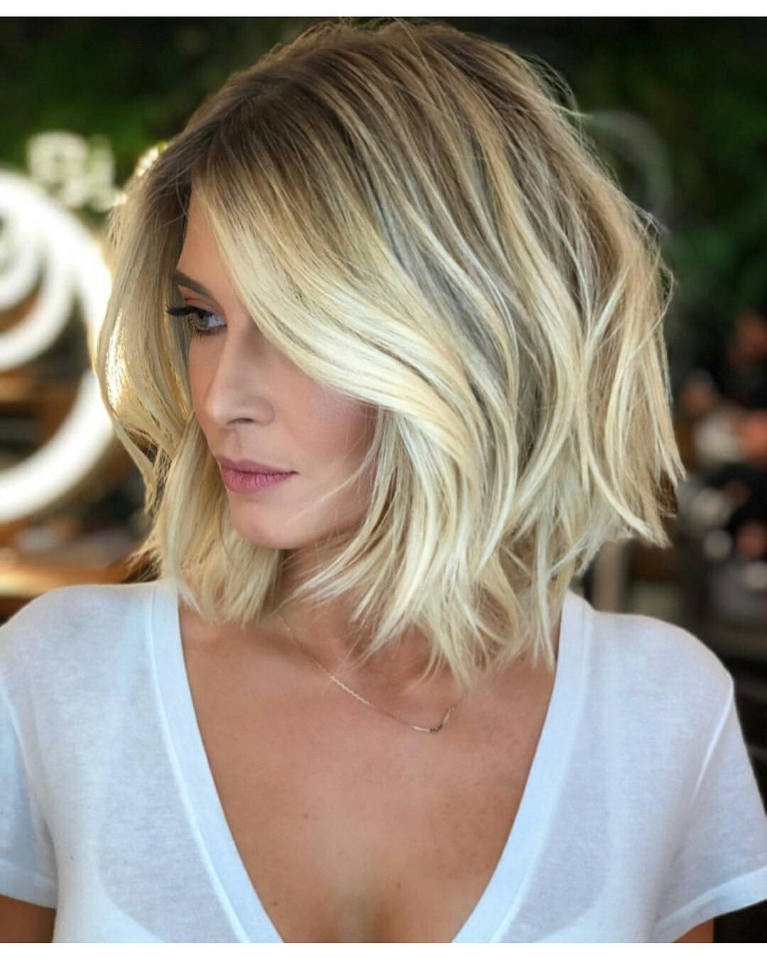 Hairstylesmediumlength Mediumlength Hairstyles Hair Styles Blonde Bob Haircut Long Hair Styles