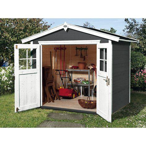 Obi Holz Gartenhaus Monza B Anthrazit Weiss Bxt 205 Cm X 209 Cm Kaufen Bei Obi Gartenhaus Weiss Gartenhaus Haus