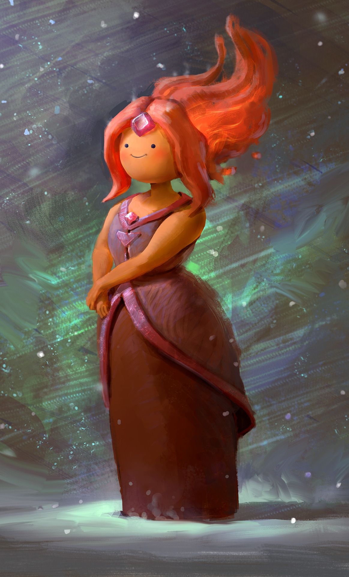 """Flame Princess by Mike Azevedo, Brazil """"she loves the snow :) hey guys, sorry for the reupload. here's my Flame Princess, had a lot of fun with this one! ON to the next ahha"""" {2014}"""