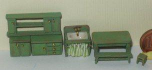 ••  Francesca Vernuccio Miniatures:  MUEBLES PARA ESCALA 144.  paint kitchen fornitures set