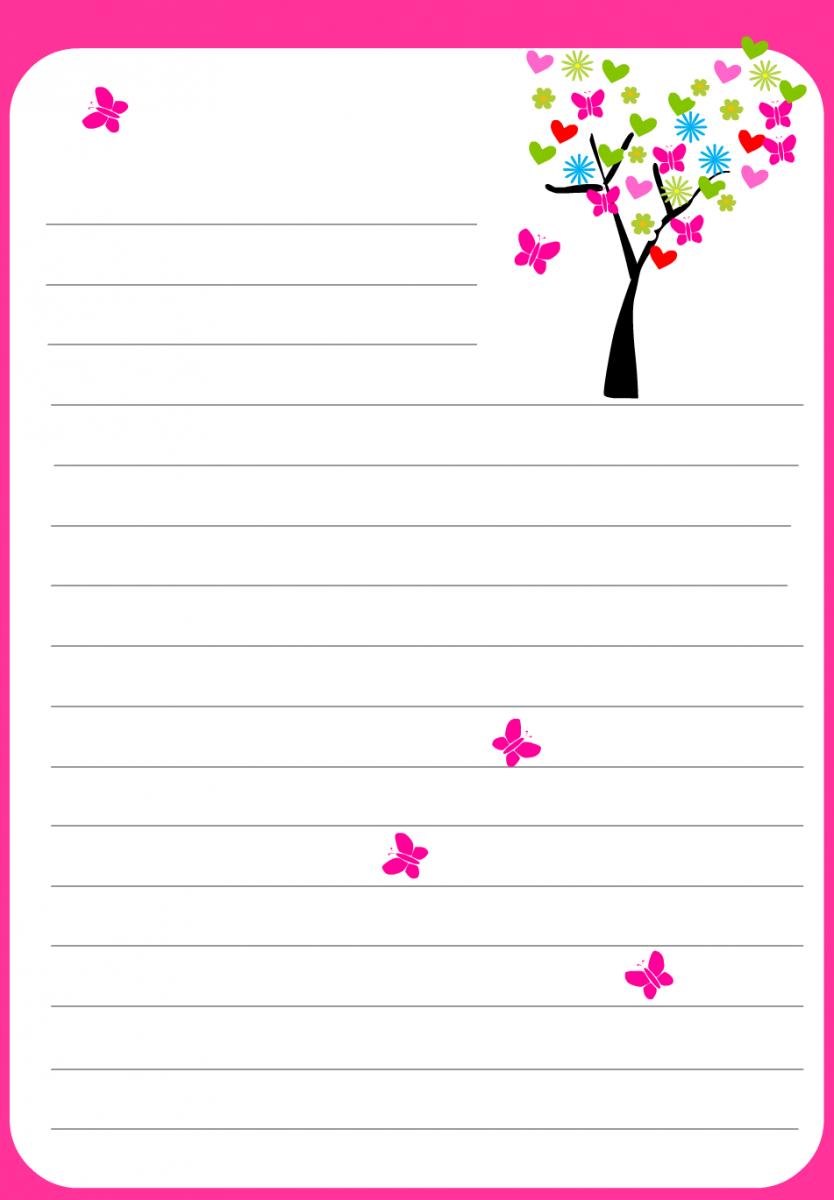 Célèbre Papier à lettre St Valentin à imprimer chez soi gratuitement mot  YI22