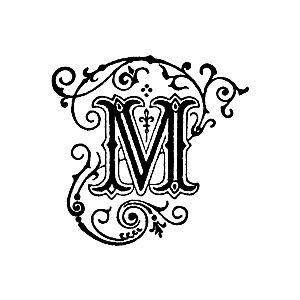 Decorative Letter M Clipart M 2 Lettering Stencils Monogram