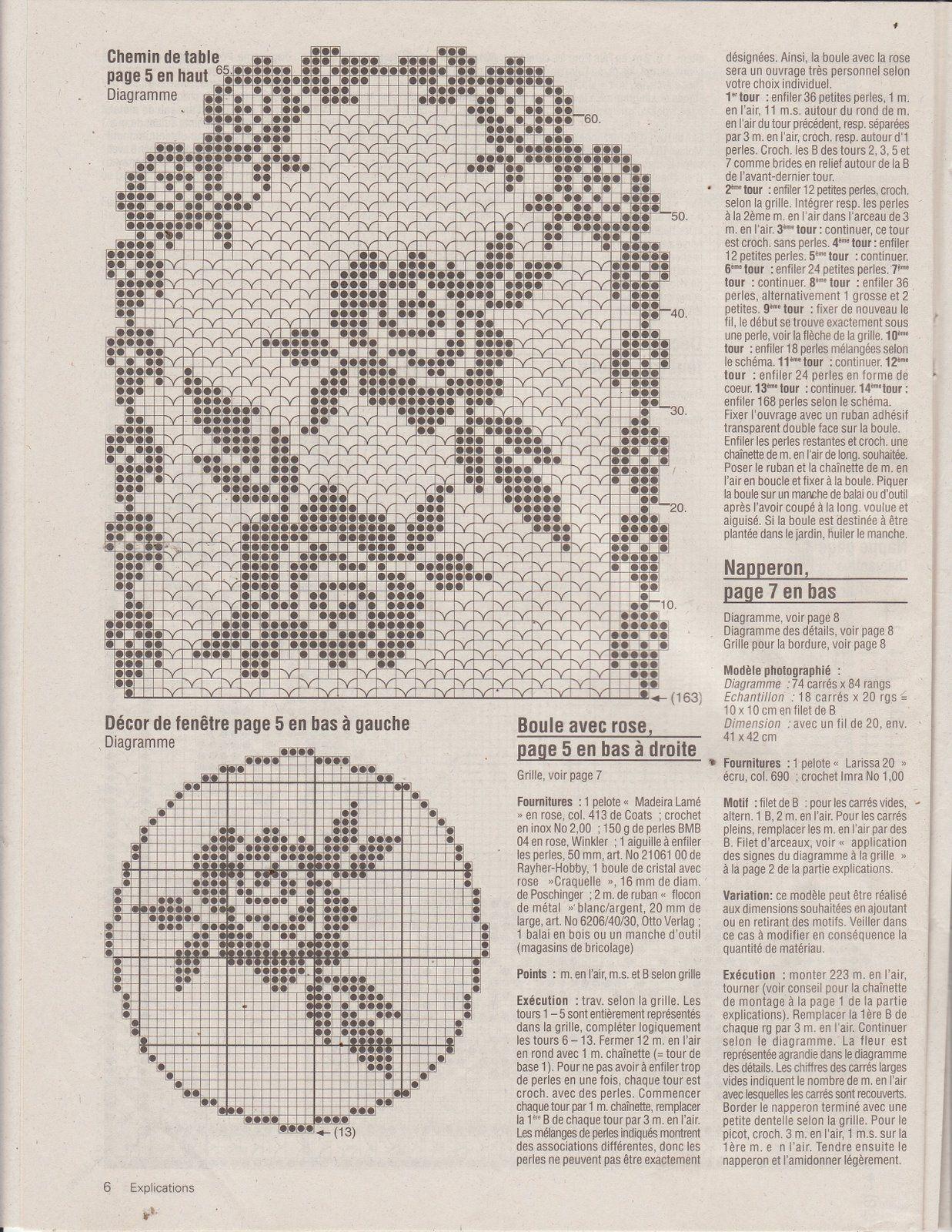 Album Archive Crochet Tablecloth Tabletop Pinterest Rose Flower Diagram Flowers 7 Rosas Patterns