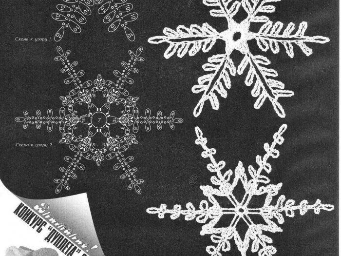 Hermosa Patrón De Crochet Copo De Nieve Bosquejo - Ideas de Patrones ...