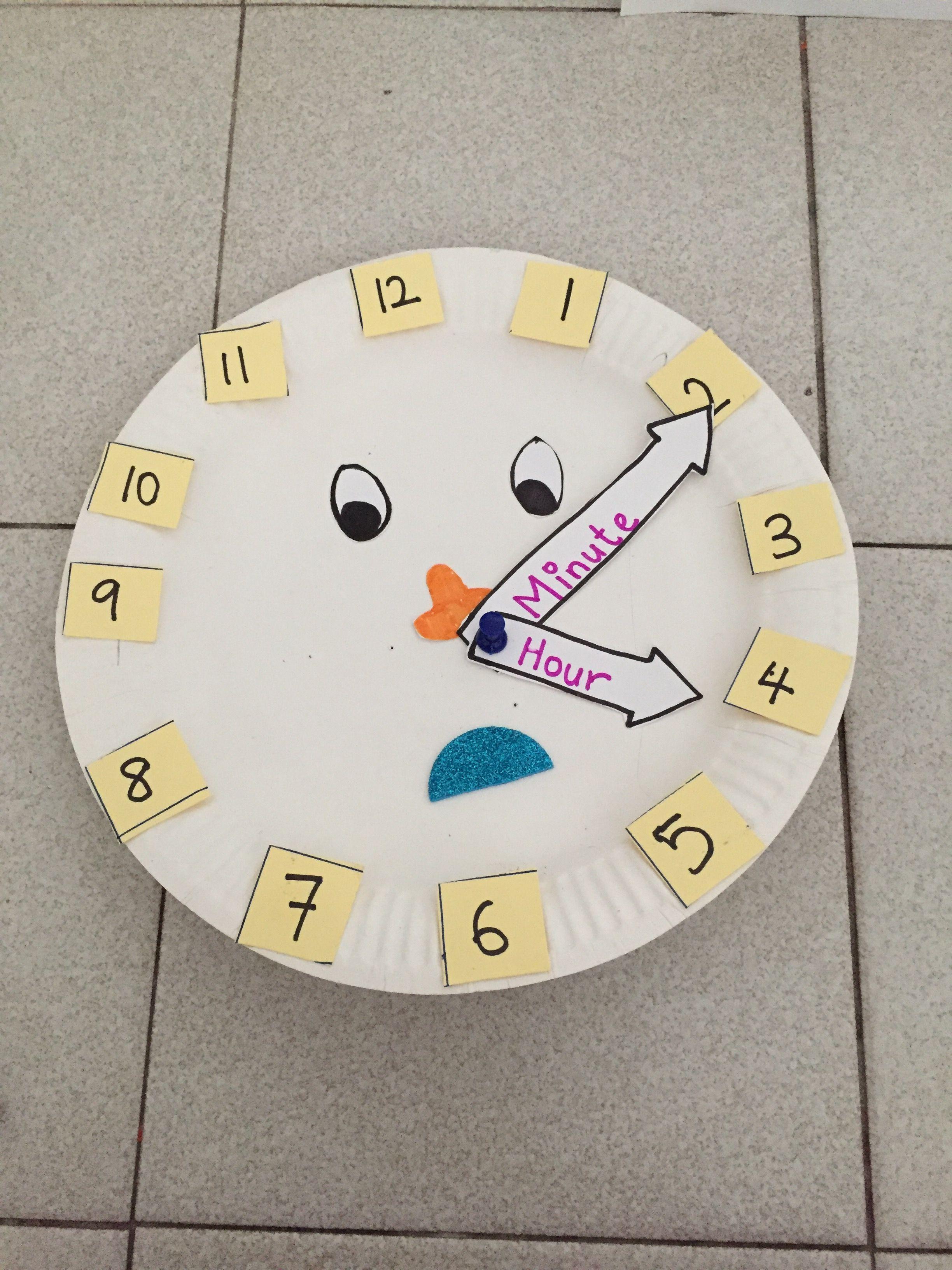 Clock Craft For Pre Schooler